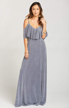 Show Me Your Mumu Renee Ruffle Maxi Dress ~ Dancing Queen Shine Smoke