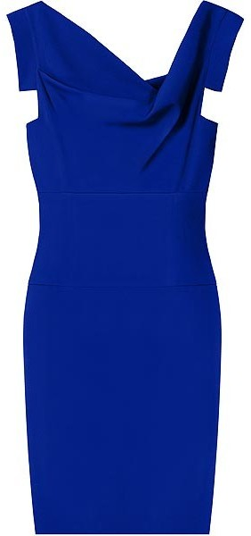 Black Halo Cobalt Jackie O Mini Dress