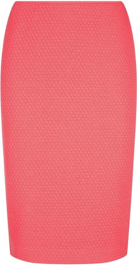 Armani Collezioni Waffle Textured Pencil Skirt, Pink, UK 18