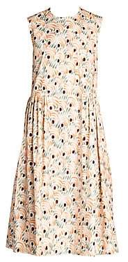 Marni Women's Cotton Valley Print Sleeveless Dress