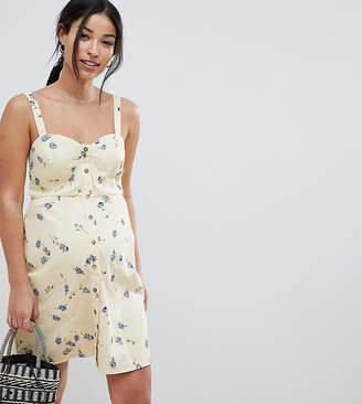 Asos DESIGN Maternity mini sundress in ditsy floral print