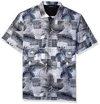 Bugatchi Men's Short Sleeve Modern Fit Surf Digital Print Polo Shirt
