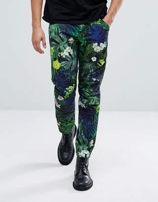 G Star G-Star Elwood 5622 X 25 Pharrell Jeans In Tropical Print