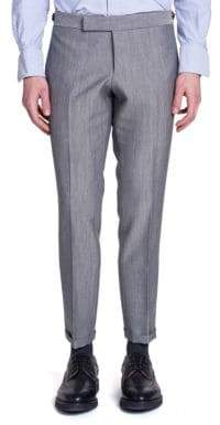 Thom Browne Low Rise Wool& Mohair Trousers