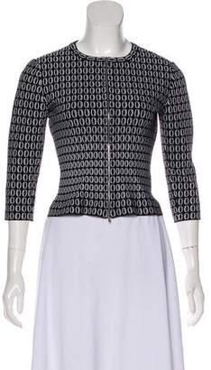 Alaia Geometric Collarless Jacket