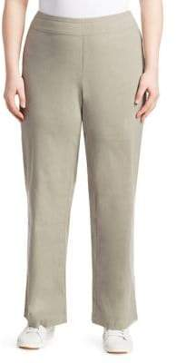 Nic+Zoe Plus Linen Pull-On Wide Leg Pants