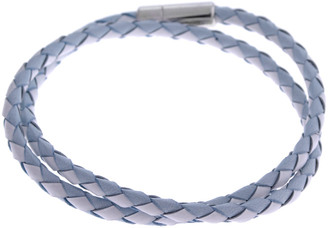 Tateossian Schoubidou Silver & Leather Wrap Bracelet
