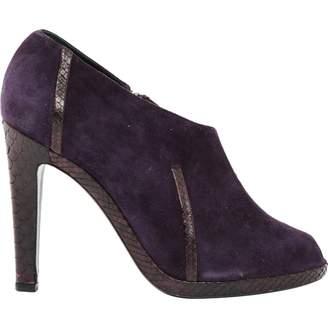Jil Sander Purple Suede Ankle boots
