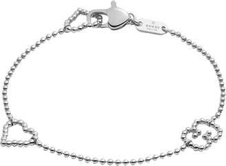 Gucci Boule Bracelet w/ Open Heart Motif