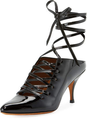 Givenchy Patent Lace-Up 80mm Pump