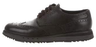 Prada Sport Leather Brogue Sneakers