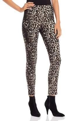 Alice + Olivia Connley Leopard Jacquard Skinny Pants