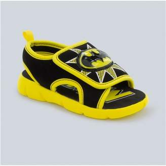 DC Comics Toddler Boys' DC Comics Batman Light-Up Slide Sandals - Black