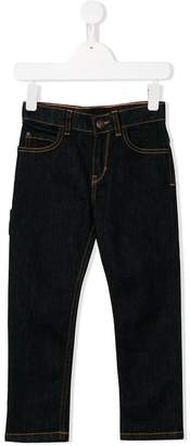 Little Marc Jacobs contrast-stitch skinny jeans