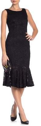 Marina Glitter Lace Flounce Dress