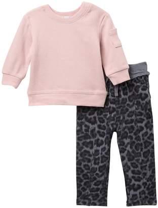Splendid Thermal Long Sleeve Top & Pants 2-Piece Set (Baby Girls)
