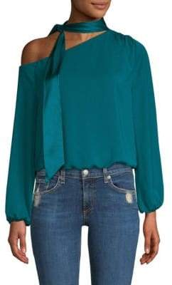 Ramy Brook Seeca Neck Tie One-Shoulder Blouse