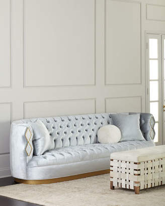Haute House Elisa Marble Inlay Tufted Sofa, 113""