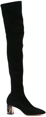 Sophia Webster thigh-high heel boots