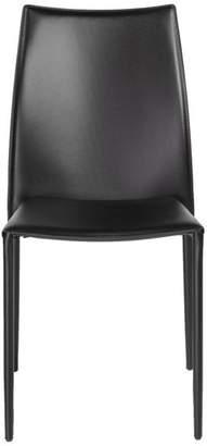 Euro Style Dalia Stacking Side Chair, Black