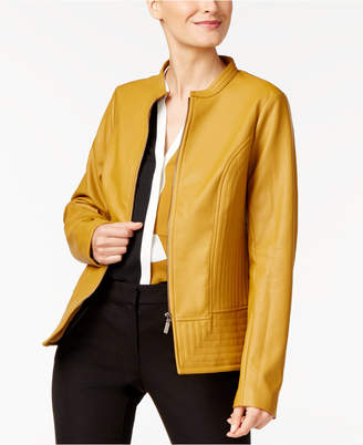 Alfani Faux-Leather Moto Jacket, Created for Macy's $99.50 thestylecure.com