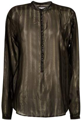 Saint Laurent sheer striped blouse