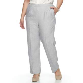 Alfred Dunner Plus Size Studio Pull-On Straight Leg Pants