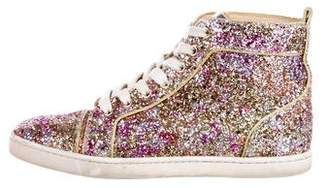 Christian Louboutin Glitter High-Top Sneakers