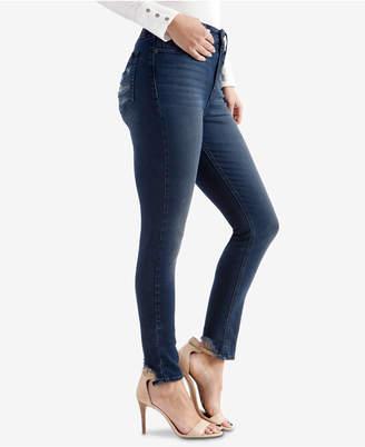 Lucky Brand High-Waist Bridgette Ripped-Pocket Skinny Jeans