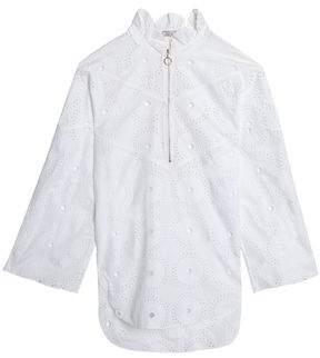 Nina Ricci Broderie Anglaise Cotton Blouse