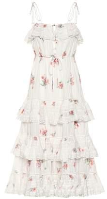 Zimmermann Heathers Pintuck cotton midi dress