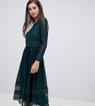 Asos Tall DESIGN Tall Premium lace midi skater dress