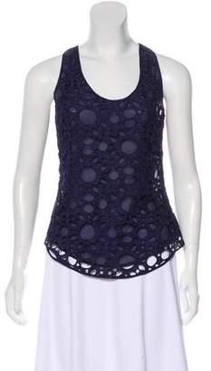 Madison Marcus Sleeveless Crocheted Top