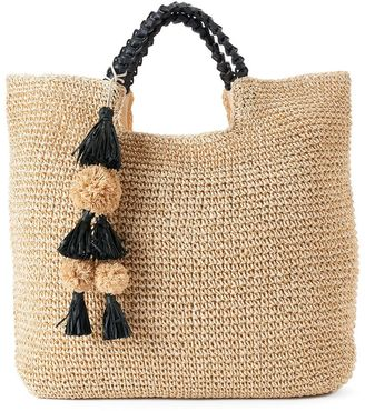 SONOMA Goods for LifeTM Lindsay Straw Tote $60 thestylecure.com