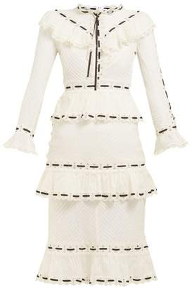 Zimmermann Honour Pintucked Cotton Dress - Womens - White