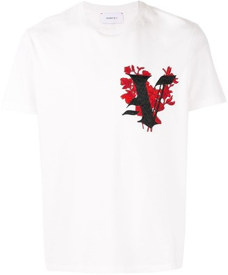 Ports V embroidered V T-shirt