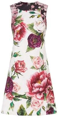 Dolce & Gabbana Jacquard Peony Dress