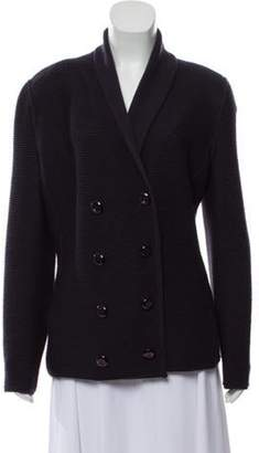 Armani Collezioni Wool Shawl-Collar Cardigan Navy Wool Shawl-Collar Cardigan