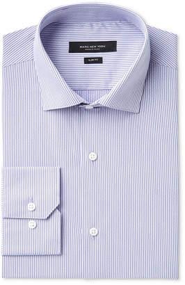 Andrew Marc Men's Slim-Fit Motion-Ease Collar Wrinkle-Free Stripe Dress Shirt