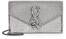 Whiting & Davis Women's Convertible Serpent Clutch