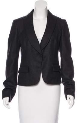 Valentino Wool & Angora-Blend Notch-Lapel Blazer