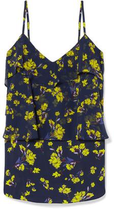 Goen J Ruffled Floral-print Chiffon Camisole