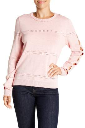 Michael Stars Reversible Sleeve Slash Pullover