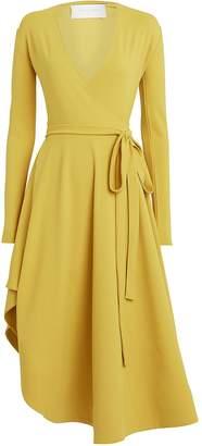Esteban Cortazar Flamenco Asymmetric Jersey Wrap Dress