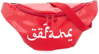 Undercover logo printed belt bag