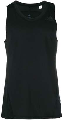 adidas logo print vest top
