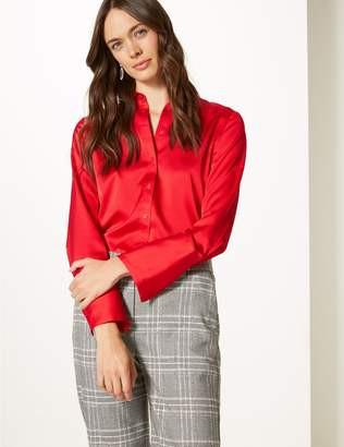 Marks and Spencer Satin Long Sleeve Shirt