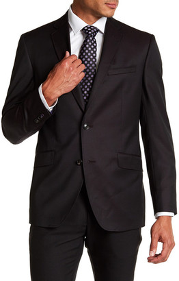 Ted Baker London Jones Burgundy Pin Dot Trim Fit Wool Suit $795 thestylecure.com