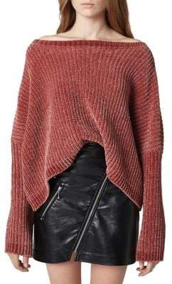 Blank NYC Off-The-Shoulder Cropped Sweater