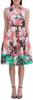 Tommy Hilfiger Floral Cotton Fit--Flare Dress